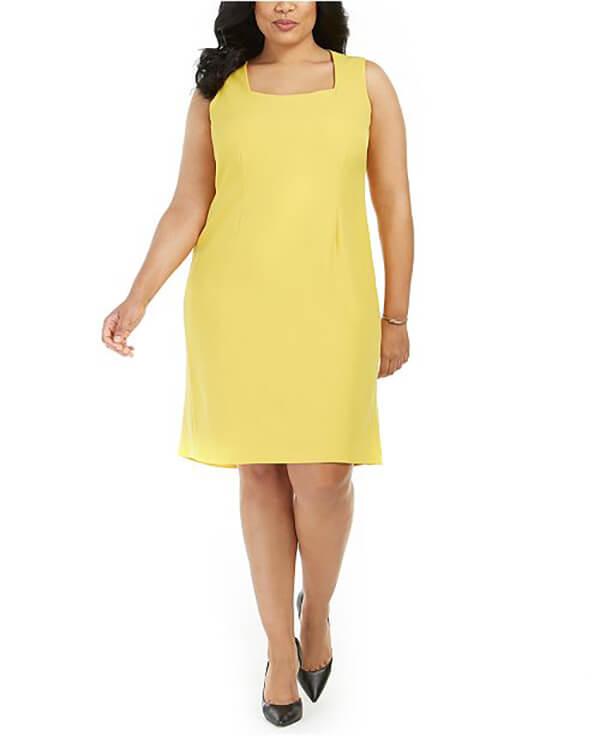 Vóc dáng mập mặc váy dáng suông đẹp