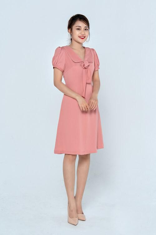 Đầm lụa hồng HeraDG - SDP19109D