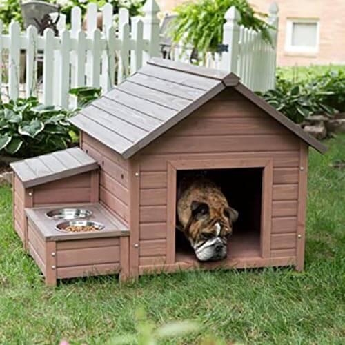 Nhà chó làm bằng gỗ