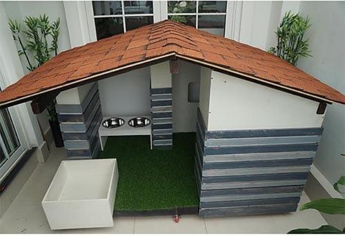 Nhà ngoài trời cho chó bằng gỗ Plywood