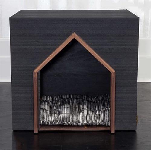 Nhà gỗ phong cách hình hộp cho chó